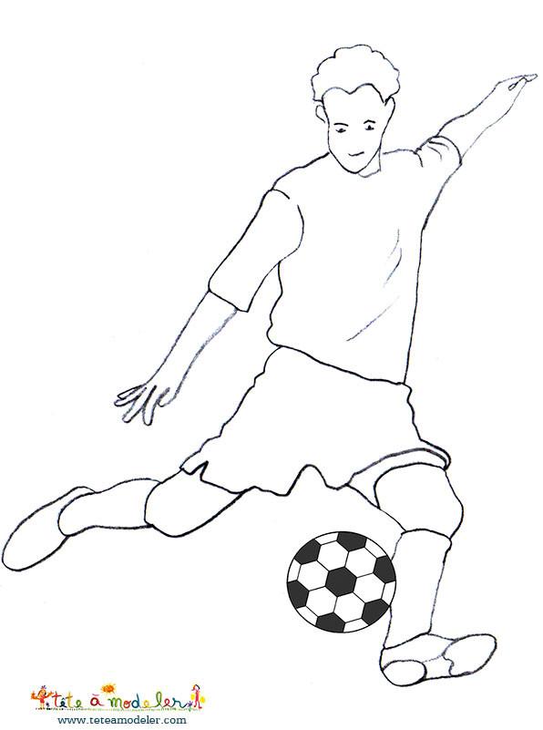 Coloriage et dessins gratuits Jouer tire Le Ballon à imprimer