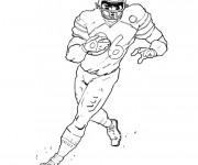 Coloriage et dessins gratuit Joueur de de Football américain à imprimer