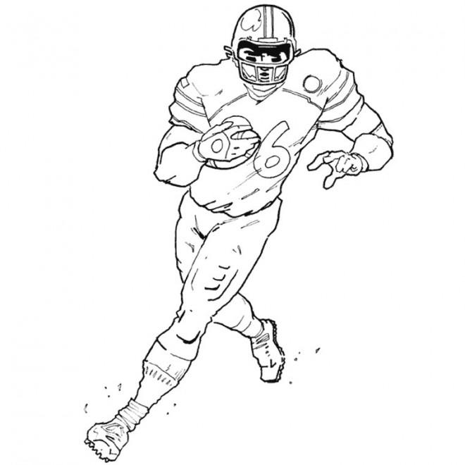 Coloriage et dessins gratuits Joueur de de Football américain à imprimer