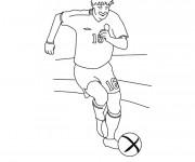 Coloriage Joueur de Foot en accélération