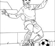 Coloriage et dessins gratuit Joueur de Foot enfant à imprimer
