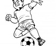 Coloriage Joueur de Football à télécharger