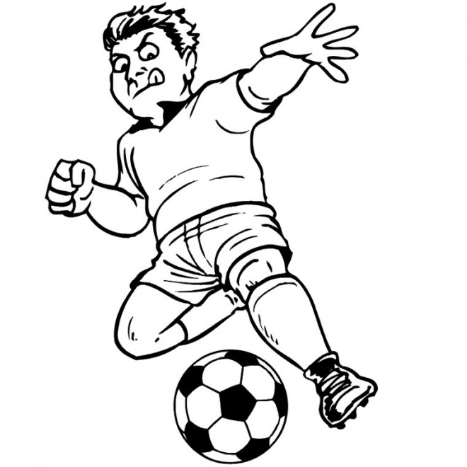 Coloriage Football gratuit à imprimer liste 40 à 60