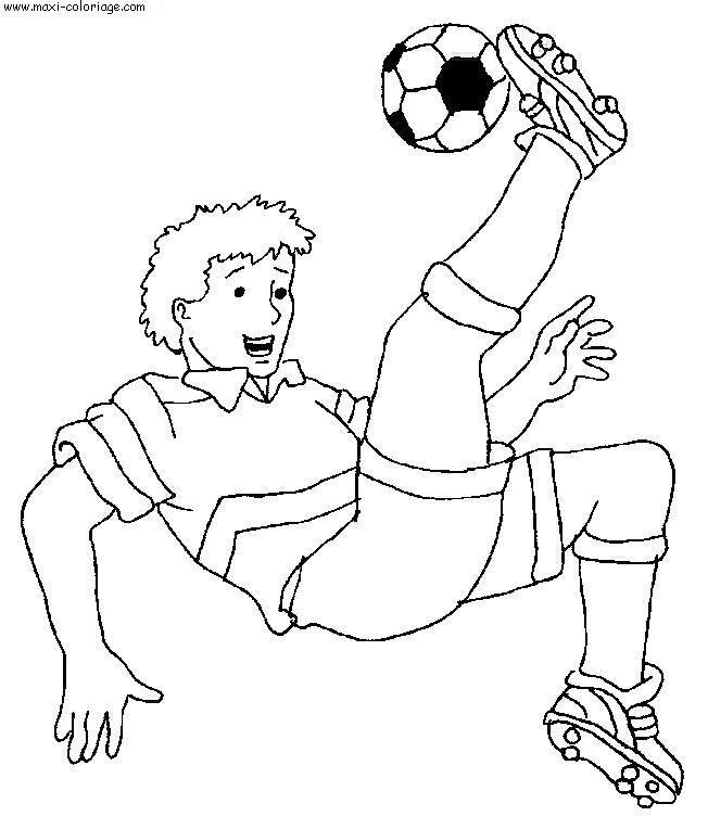 Coloriage et dessins gratuits Joueur en ciseau acrobatique à imprimer