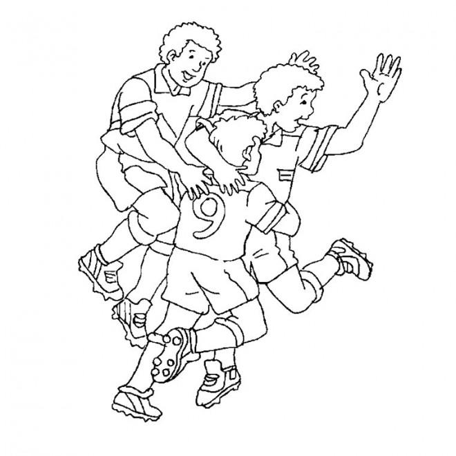Coloriage et dessins gratuits La Joie Foot à imprimer
