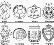 Coloriage Logos fédérations de Football