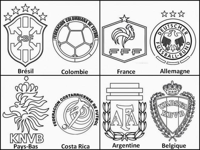 Coloriage et dessins gratuits Logos fédérations de Football à imprimer