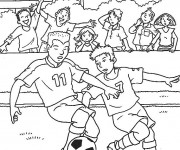 Coloriage Match De Football.Coloriage Football Gratuit A Imprimer