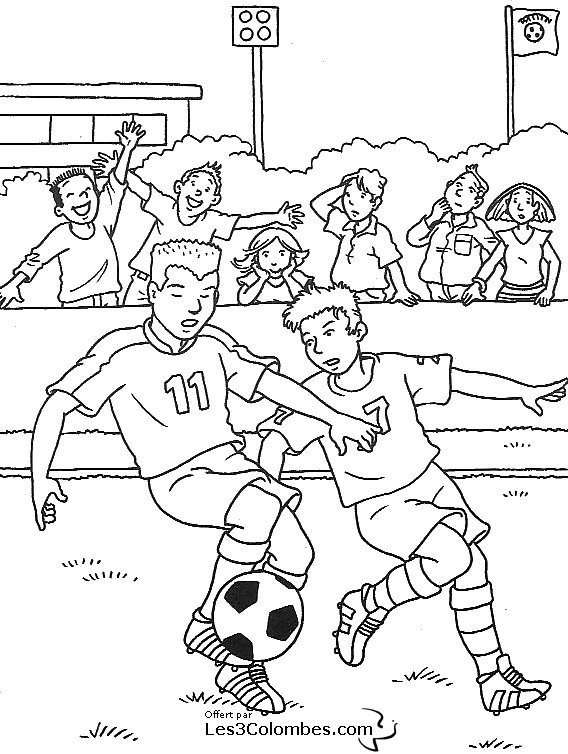 Coloriage Match De Football.Coloriage Match De Football Dessin Gratuit A Imprimer