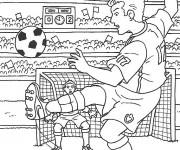 Coloriage Match de Football populaire