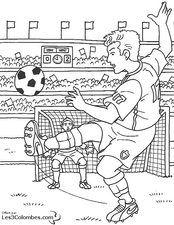 Coloriage Match De Football.Coloriage Match De Football Populaire Dessin Gratuit A Imprimer