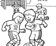 Coloriage Match de Football vecteur