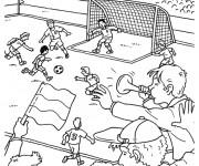 Coloriage et dessins gratuit Partie de Foot à imprimer