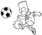 Coloriage Simpsons Joueur de Foot