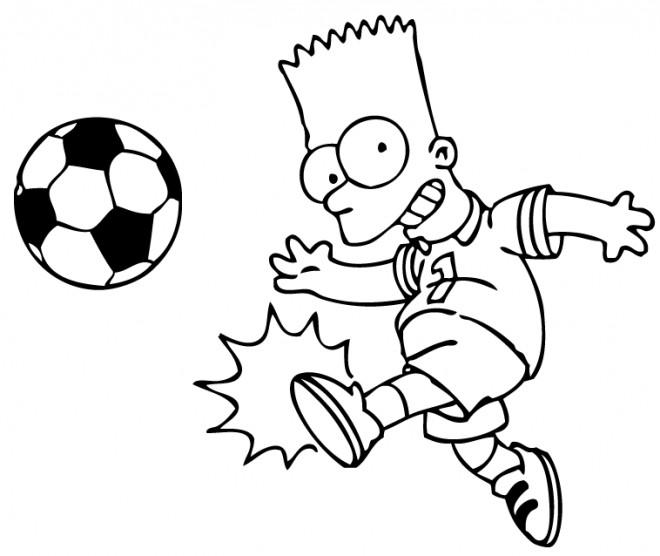 Coloriage et dessins gratuits Simpsons Joueur de Foot à imprimer