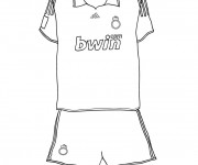 Coloriage T-shirt Football Real Madrid