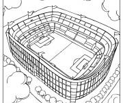 Coloriage Un Stade de Football