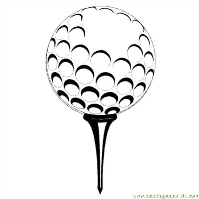 Coloriage et dessins gratuits Balle de Golf vecteur à imprimer