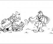 Coloriage et dessins gratuit Chien Golfeur dessin animé à imprimer