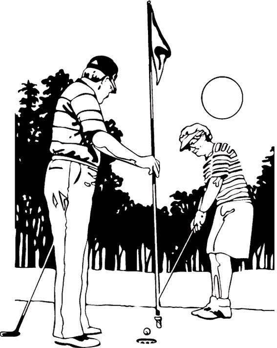Coloriage et dessins gratuits Golf à colorier à imprimer