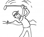 Coloriage et dessins gratuit Golf à découper à imprimer