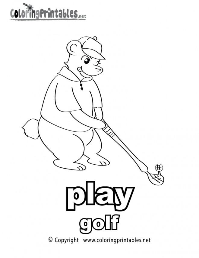 Coloriage et dessins gratuits Golf dessin animé à imprimer
