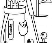 Coloriage et dessins gratuit Golf en couleur à imprimer