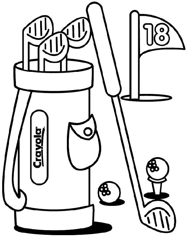 Coloriage et dessins gratuits Golf en couleur à imprimer