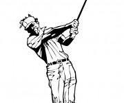 Coloriage et dessins gratuit Golf maternelle à imprimer