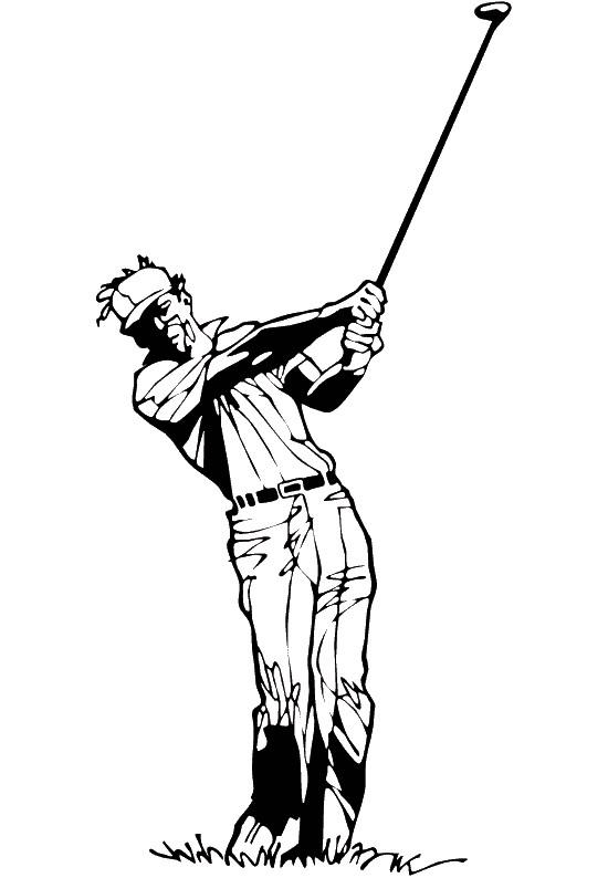 Coloriage et dessins gratuits Golf maternelle à imprimer