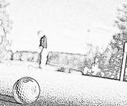 Coloriage et dessins gratuit Golf réaliste à imprimer