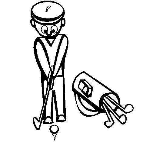 Coloriage et dessins gratuits Golf vecteur à imprimer