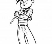 Coloriage et dessins gratuit Golfeur confiant à imprimer