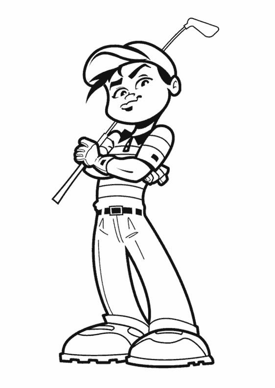 Coloriage et dessins gratuits Golfeur confiant à imprimer