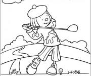 Coloriage Golfeur en plein air