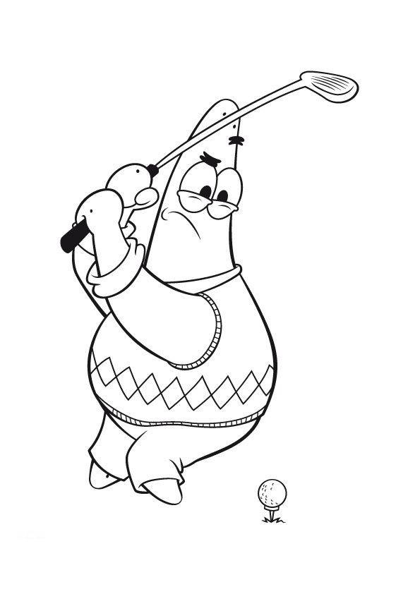 Coloriage et dessins gratuits Golfeur humoristique à imprimer