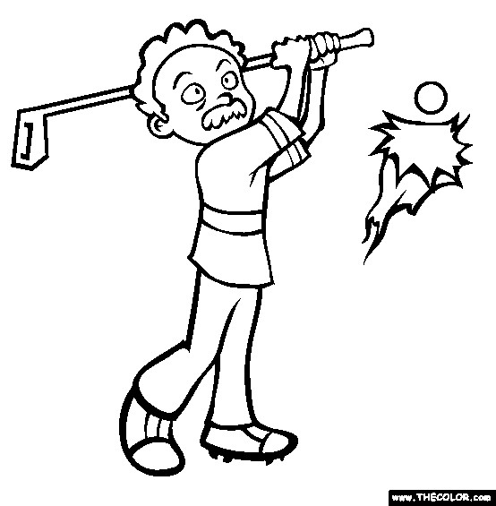 Coloriage et dessins gratuits Golfeur pas assez professionnel à imprimer