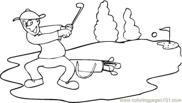 Coloriage golfeur professionnel dessin gratuit imprimer - Coloriage professionnel ...