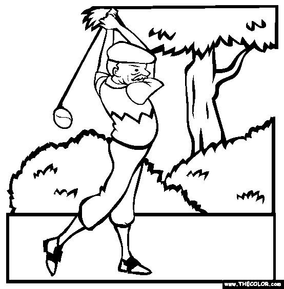 Coloriage et dessins gratuits Golfeur professionnel à imprimer