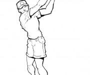 Coloriage et dessins gratuit Golfeur tire La balle à imprimer