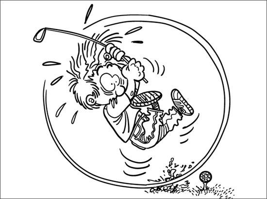 Coloriage et dessins gratuits Humour golfique à imprimer