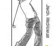 Coloriage Jack Nicklaus Golfeur