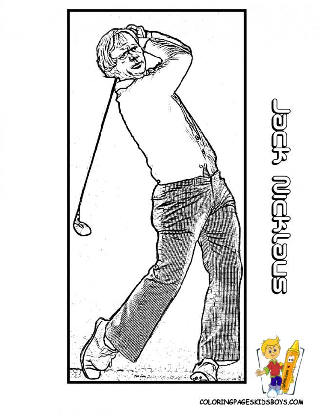 Coloriage et dessins gratuits Jack Nicklaus Golfeur à imprimer