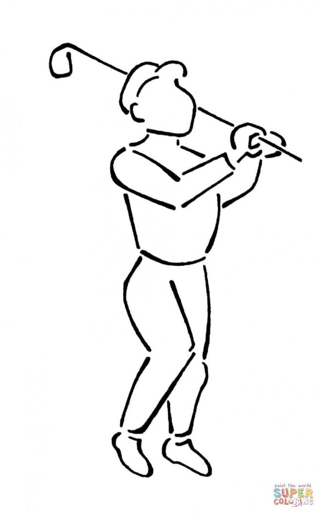Coloriage et dessins gratuits Joueur de Golf à décorer à imprimer