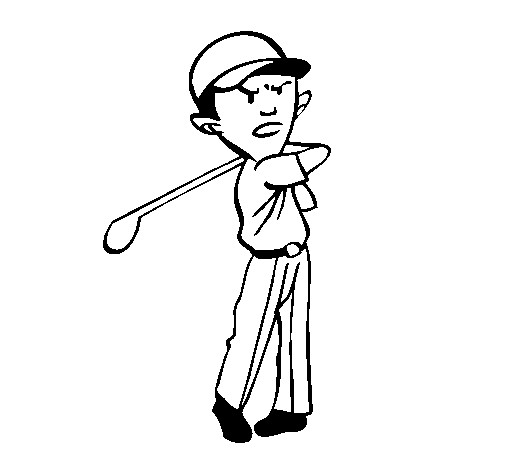 Coloriage et dessins gratuits Joueur de Golf stylisé à imprimer