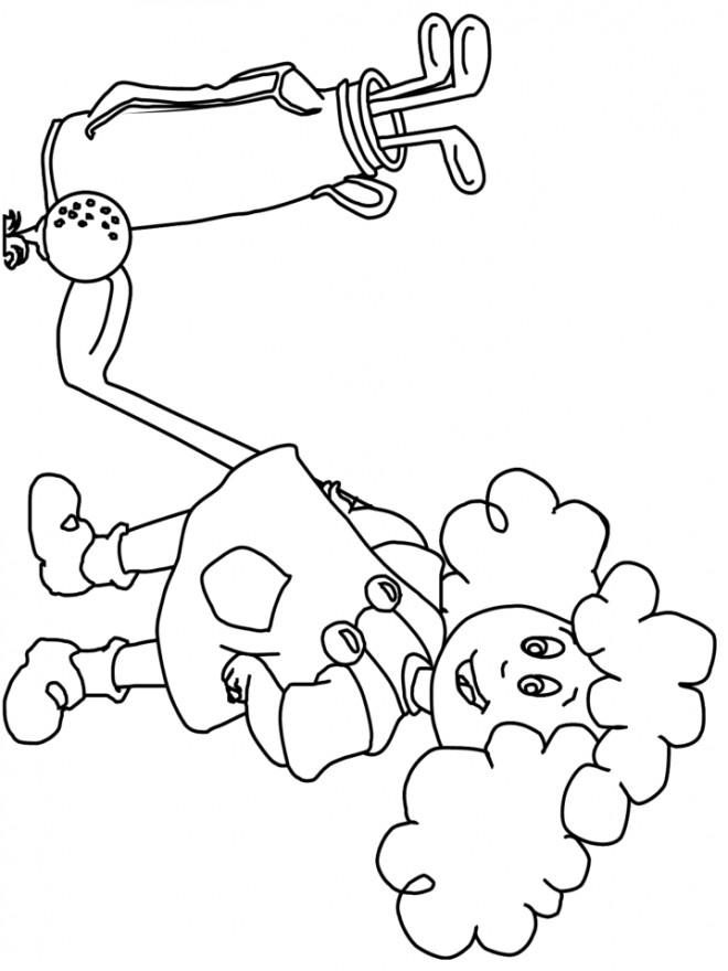 Coloriage et dessins gratuits petite Golfeuse à imprimer