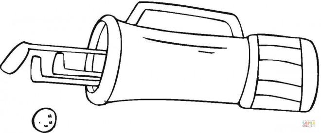 Coloriage et dessins gratuits Sac de Golf en noir et blanc à imprimer
