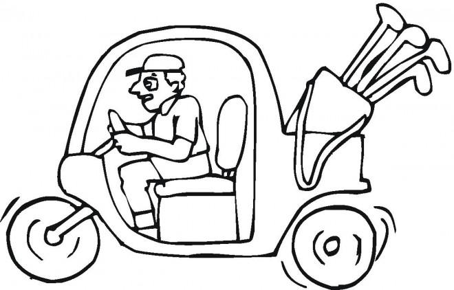Coloriage et dessins gratuits Voiture de Golf à imprimer