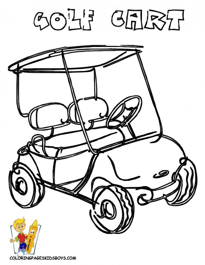 Coloriage et dessins gratuits Voiture Golf couleur à imprimer