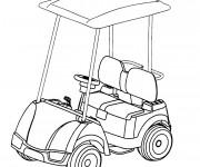 Coloriage et dessins gratuit Voiturette de Golf à imprimer